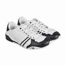 Diesel Harold Solar Mens White Black Leather Lace Up Sneakers Shoes