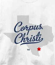 Corpus Christi, Texas TX MAP Souvenir T Shirt All Sizes & Colors