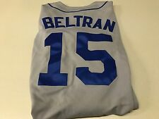 NWT MEN'S CARLOS BELTRAN #15 RETRO NEW YORK METS GRAY MAJESTIC JERSEY