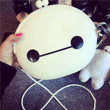 Women Silicone Baymax Cross Body Messenger Bag Shoulder Bag Clasp Coin Purses