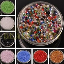 NEW (105 Colors) 100~1000pcs 3mm Bicone Faceted Crystal Glass Loose Spacer Beads