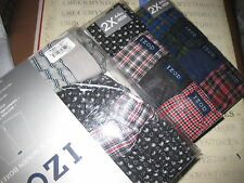 4 Pack Mens IZOD Woven Boxers Cotton Button Fly Underwear choose size/color