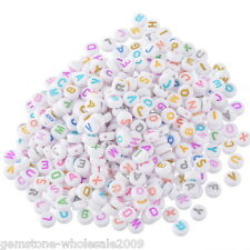 Wholesale Lots Mixed Alphabet Letters Acrylic Spacer Beads 7mm