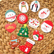 50pcs/lot Mini Merry Christmas Wishing Cards/Tags Xmas Gift Decoration Label EF