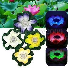 Solar 7Color-changing LED Lotus Flower Lamp Floating Pool Pond Lamp Garden Light