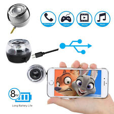 3.5mm Aux Audio Jack Mini Speaker with USB Port Built-in Battery For Smartphone