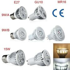 New Dimmable High Power 9W 15W E27/GU10/MR16 LED Lamp Spotlight Warm/Cool White