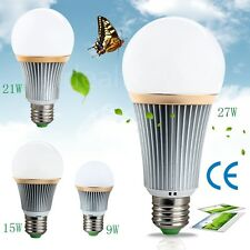 E27Energy Saving LED Bulb Light Lamp 9W 15W 21W 27W Cool/Warm White Non/Dimmable