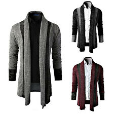 Men's Fashion Stylish Knit Cardigan Jacket Long Sleeve Casual Sweater Coat New C