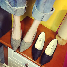 NEW Charm Womens Casual Pointed Toe Slip On Boat Shoes Ballet Flats Shoes