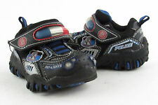 New Skechers Boys / Toddler Hot Lights Police Car 92 Black Hook & Loop Sneakers