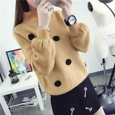 Hot new spring temperament autumn Korean fashion loose knitted sweater coat Size