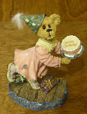 Boyds Bearstone #228362 Katie B. Howold..Not Tellin, From Retail Store, Birthday