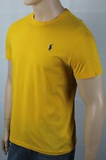 Polo Ralph Lauren Yellow Gold Crew Neck Tee T-Shirt Blue Pony NWT