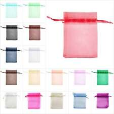 20/40/60/100pcs 7x9cm Organza Gift Bags Jewellery Pouches Rectangle Bags BB0001