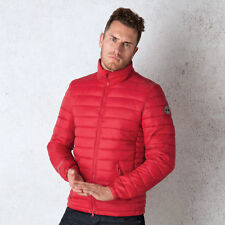 Mens Crosshatch Shepperton Quilted Jacket In Chilli Pepper From Get The Label