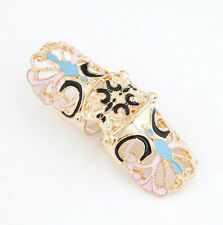 Fashion Gold Silver Plated Punk Butterfly Ring Womens Finger Rings Boho Style