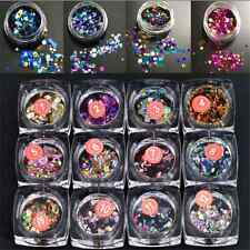 HOT! Ultrathin Nail Art Sequins UV Gel Colorful Shiny Round Decoration DIY Tips