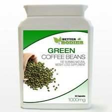 Green Coffee Bean Extract Capsules 1000mg 50% CGA Weight Loss Diet Bottle
