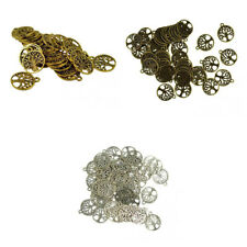 30/50pcs Antique Silver/Bronze/Gold Tree Of Life Charms Beads For Jewelry Making
