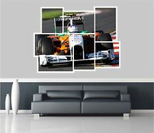 Huge Collage View Formula One Car Wall Stickers Mural Wallpaper 44