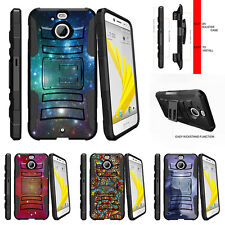 For HTC Bolt | HTC 10 Evo Rugged Holster Clip Kickstand Case Galaxy with Specs