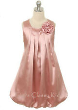 New Flower Girls Mauve Fancy Dress Size 2-14 Party Easter Christmas Pageant 242