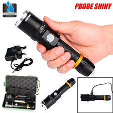 5000LM Zoomable CREE XML T6 LED waterproof Flashlight Torch Lamp+Battery+Charger