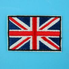 Union Jack Britain Uk Flag Iron on Sew Embroidered Badge Patch Biker England Lot