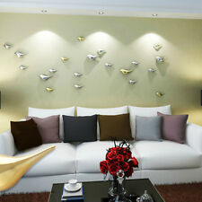1Pc Room Removable Synthetic Birds Mirror Effect Mural Wall Sticker Decal Random
