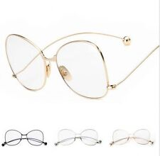 Vintage Fashion Oversized Clear Lens Glasses Metal Frame Nerd Geek Eyewear Hot