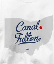 Canal Fulton, Ohio OH MAP Souvenir T Shirt All Sizes & Colors