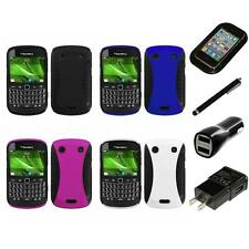 For BlackBerry Bold Touch 9900 9330 Hybrid Rugged Impact Hard Case Charger