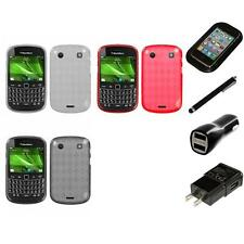 For BlackBerry Bold Touch 9900 9330 TPU Rubber Skin Flexible Case Charger Stylus