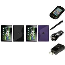 For BlackBerry Playbook TPU Rubber Skin Flexible Case Phone Cover Charger Stylus