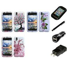 For LG Optimus Black P970 Design Snap-On Hard Case Phone Cover Charger Stylus