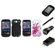 For Samsung Stratosphere 3 Design Snap-On Hard Case Phone Cover Charger Stylus