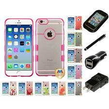 For Apple iPhone 6/6S [4.7] TPU Hard Case Skin Phone Cover Charger Stylus