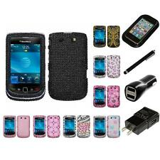 For BlackBerry Torch 9800 Diamond Diamante Bling Rhinestone Case Charger Stylus