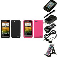 For HTC One V Silicone Skin Rubber Soft Case Phone Cover Accessories