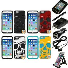 For iPhone 6/6S [4.7] Hybrid Skull Skeleton Impact Hard Soft Case Accessories