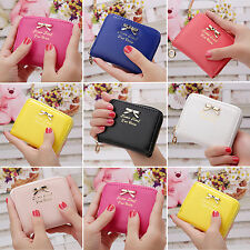 New Womens Girls Fashion Short Small Wallet Faux Leather Coin Purse Card Holder