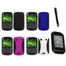 For BlackBerry Bold Touch 9900 9330 Hybrid Rugged Impact Hard Case Mount+Pen