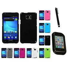 For Samsung Galaxy S2 i9100 Rigid Plastic Hard Snap-On Case Cover Mount+Pen
