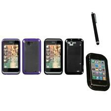 For HTC Rhyme / Bliss TPU Hard Case Skin Phone Cover Mount+Pen