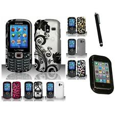 For Samsung Intensity 3 U485 Hard Rubberized Matte Snap-On Case Cover Mount+Pen