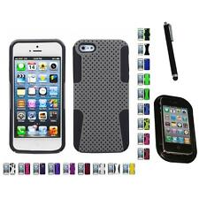 For Apple iPhone 5/5S/SE Hybrid Rugged Impact Hard Soft Case Cover Mount+Pen