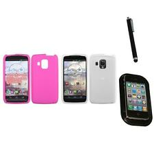 For Pantech Perception Silicone Skin Rubber Soft Case Phone Cover Mount+Pen