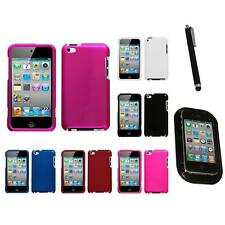 For Apple iPod Touch 4th Gen Rigid Plastic Hard Snap-On Case Cover Mount+Pen