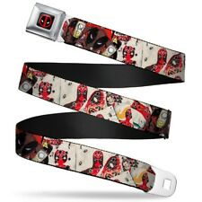 Deadpool Marvel Comics Antihero Shooting Range Seatbelt Belt